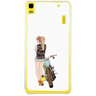 ifasho Girl with bullet Back Case Cover for Lenovo K3 Note