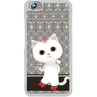 ifasho Winking and Dancing  Cat Back Case Cover for Micromax Canvas Fire4 A107