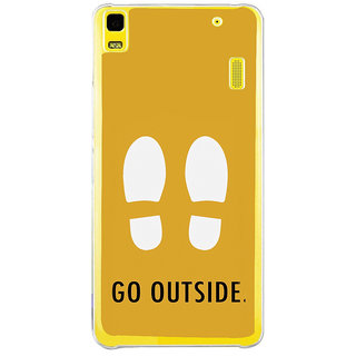 ifasho life Quotes go outside Back Case Cover for Lenovo K3 Note