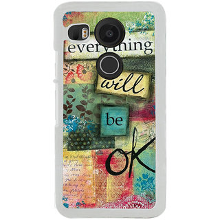 ifasho everything will be ok quotes Back Case Cover for LG Google Nexus 5X
