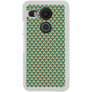 ifasho Animated Pattern of Chevron Arrows royal style Back Case Cover for LG Google Nexus 5X