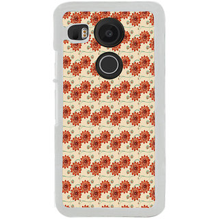 ifasho Modern Art Design animated cloth Pattern of flower Back Case Cover for LG Google Nexus 5X