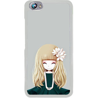 ifasho Girl  with Flower in Hair Back Case Cover for Micromax Canvas Fire4 A107