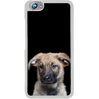 ifasho Grey Dog Back Case Cover for Micromax Canvas Fire4 A107
