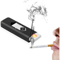 Safety USB Electronic Rechargeable Flameless Cigar Cigarette Lighter Windproof