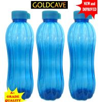 GOLDCAVE Water Bottle - Set Of 3 Bottles With Glass Cap.