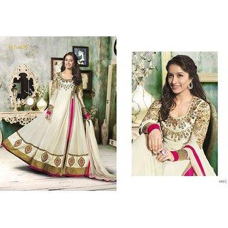 Georget Semi Stitched Anarkali Style Dresses