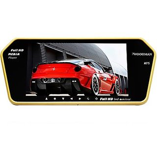 Full HD LED Reverse Parking Screen with Bluetooth MP5 SD Card USB + Parking Camera(Black)