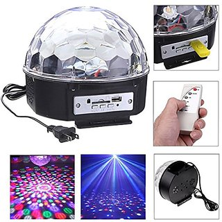 RGB LED MP3 Crystal Magic Ball Stage Effect Light DJ Club Disco Party Lighting