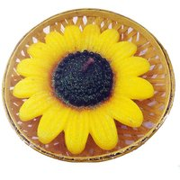 ATORAKUSHON SMOKELESS SCENTED BIG SUNFLOWER FLOATING CANDLE- PACK OF 4 FOR DIWALI X-MAS PARTY