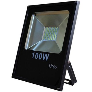 100 Watt SMD LED Slim Flood Light Pure White Waterproof AC Indoor Outdoor 100W