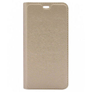 kanish Samsung Galaxy C7 Gold Artificial Leather Wallet Cover By Payal Enterprises