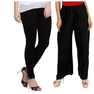 ramE New fashion Causal  Black colour plazzo ,palazzo pant  with black colour leggings for girls,ladies and women