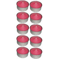 Atorakushon Smokeless Scented Pink Tealight T-Lite Candles For Diwali Birthday Party Pack Of 50