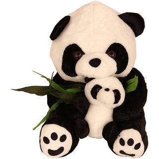 Plush panda with baby
