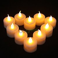 Lowprice Online Set Of 6 Flame Less Battery Operated Tea Light Candles/Led Candles/Party Candles - White (Natural Flame)