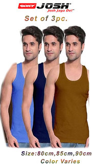 Dixcy Josh Mens multicolor vest RN  (set of 3 pc)