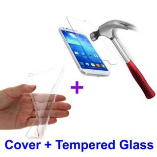 SAMSUNG GLAXY A5 2016 COMBO TRANSPARENT BACK JELLY COVER AND TEMPERED GLASS SCREEN PROTECTOR