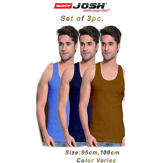 Dixcy Josh Mens multicolor vest RN 95/100cm (set of 3 pc)