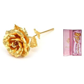 24K Gold Foil Rose (25Cm) With Gift Box