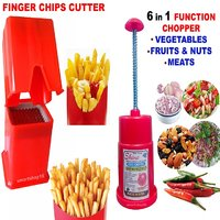 2 COMBO FINGER POTATO CHIPS CUTTER  FRENCH FRIES + VEGATABLES FOODS  CHOPPER