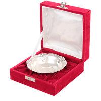 German Silver Bowl With Velvet Gift Box
