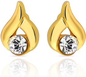Mahi Gold Plated  Gold Studs For Women