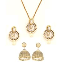Goldnera Gold Plated Jewellery Combo For Women
