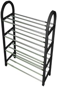 4 Layered Shoe Rack - Stainless Steel