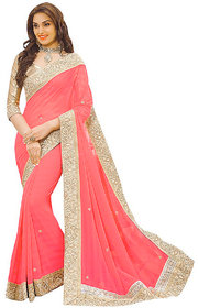 New attractive and charming georgette saree