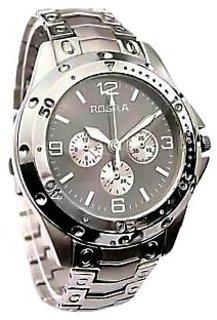 Rosra Round Dial Silver Metal Strap Mens Quartz Watch