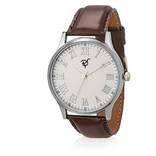 Rico Sordi Round Dial Brown Metal Strap Mens Watch