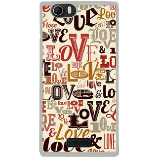 ifasho Love pattern Back Case Cover for Micromax Canvas Nitro2 E311