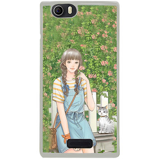ifasho Girl in park Back Case Cover for Micromax Canvas Nitro2 E311