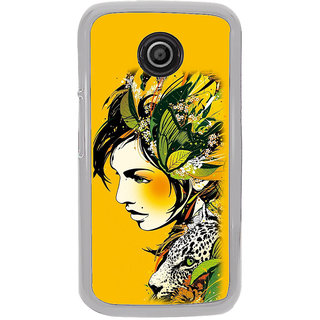 ifasho Jungle girl Back Case Cover for Moto E