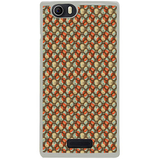 ifasho Animated Pattern With flower inside Circle  Back Case Cover for Micromax Canvas Nitro2 E311