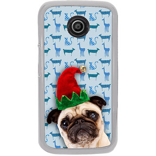 ifasho Dog with red hat Back Case Cover for Moto E2