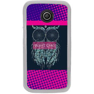 ifasho Stylish Owl Back Case Cover for Moto E2
