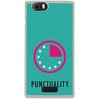 ifasho Puncutality Back Case Cover for Micromax Canvas Nitro2 E311