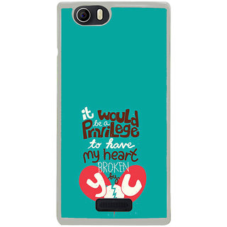 ifasho Heart Break Girl Back Case Cover for Micromax Canvas Nitro2 E311