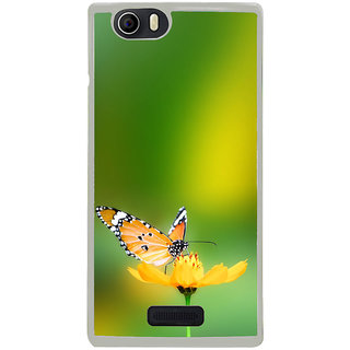 ifasho Butterfly sitting on flower Back Case Cover for Micromax Canvas Nitro2 E311