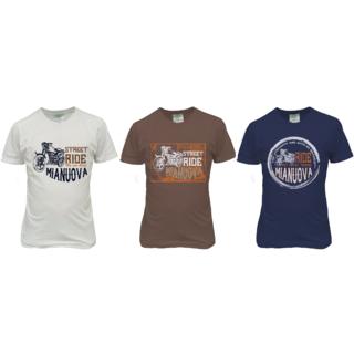 Urban Men's Round Neck TShirts Combo (Half White,Navy and Brown) - 2014 UMRN-501