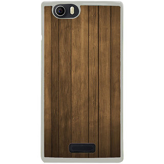 ifasho Brown Wooden Pattern Back Case Cover for Micromax Canvas Nitro2 E311
