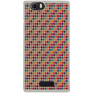 ifasho Animated Pattern  littel and Big colourful Circle Back Case Cover for Micromax Canvas Nitro2 E311