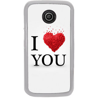 ifasho Love Quotes I love you Back Case Cover for Moto E2