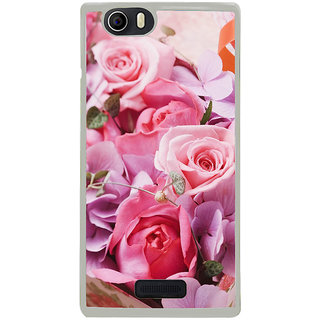 ifasho Red Rose Back Case Cover for Micromax Canvas Nitro2 E311