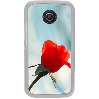 ifasho Red Rose Back Case Cover for Moto E2