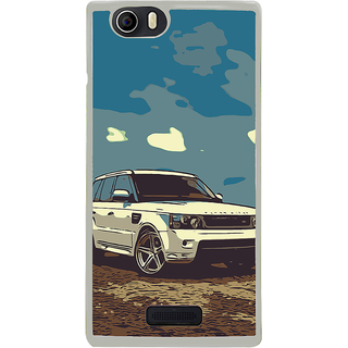 ifasho Vintage white Car Back Case Cover for Micromax Canvas Nitro2 E311