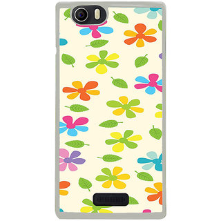 ifasho Animated Pattern flower with leaves Back Case Cover for Micromax Canvas Nitro2 E311