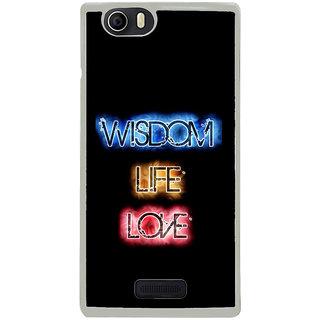 ifasho Wisdom life love designed quote Back Case Cover for Micromax Canvas Nitro2 E311